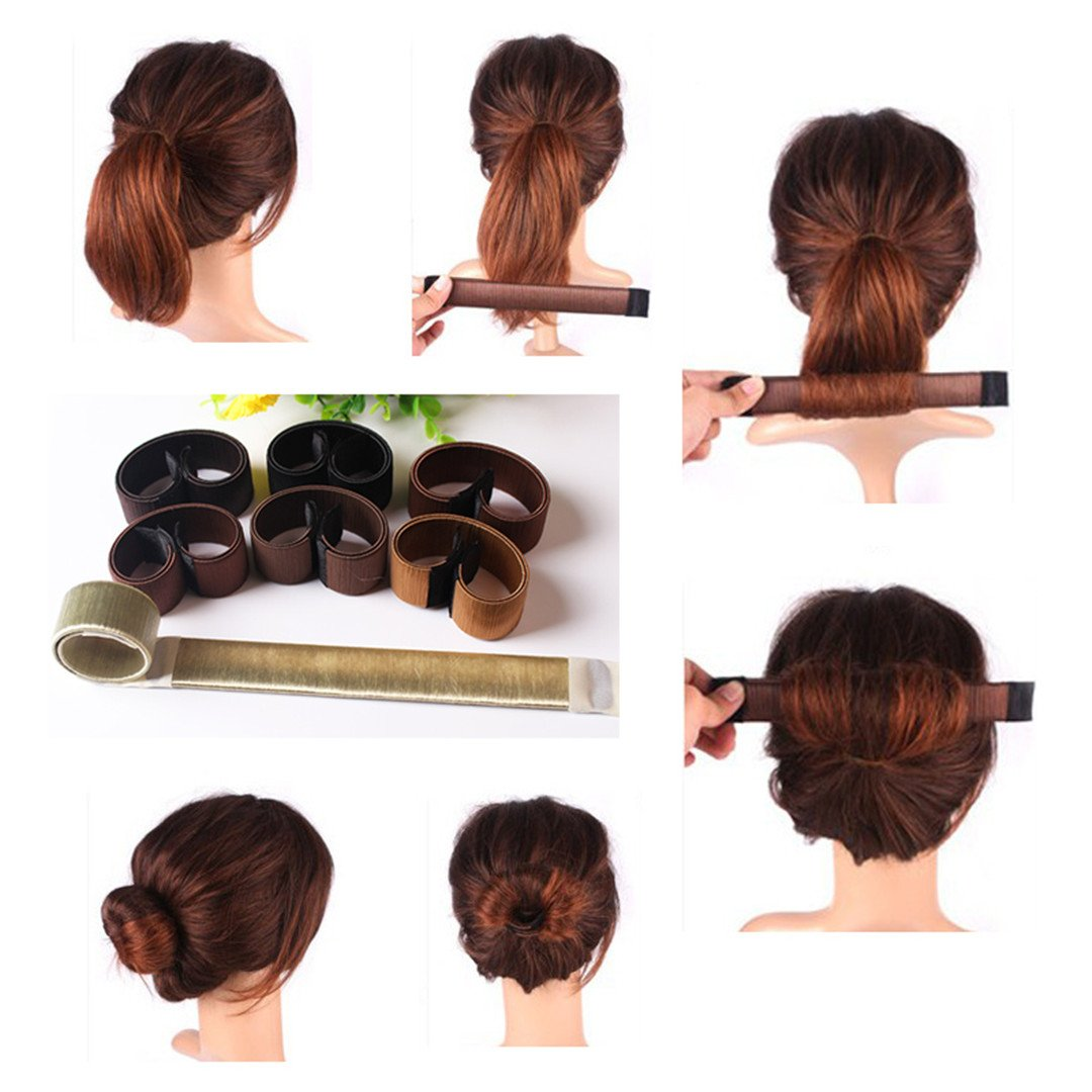 1Pc Girl Hair Styling Tools Foam French Tool DIY Hair Styling Tools Roller Styling Tool Brown 3 by HAHUHERT (Image #2)