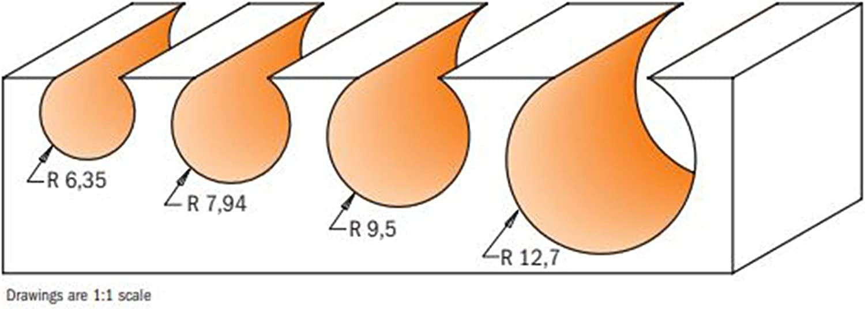 CMT Orange Tools 968,158,11 esferica Fraise hw s d 8 x 14 x 15,8 60,3 r 8