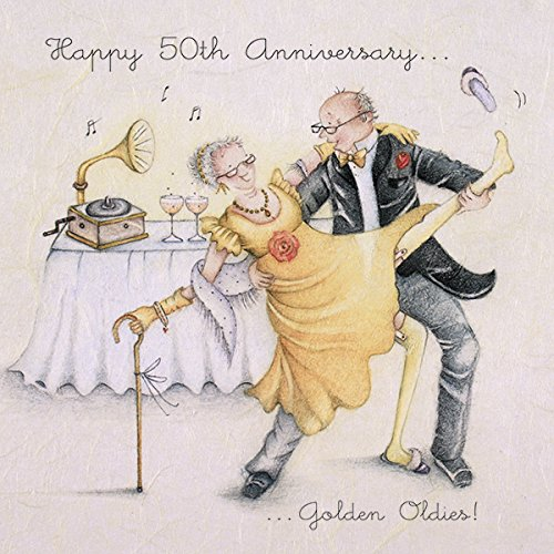 happy 50th anniversary card golden oldies amazon co uk office