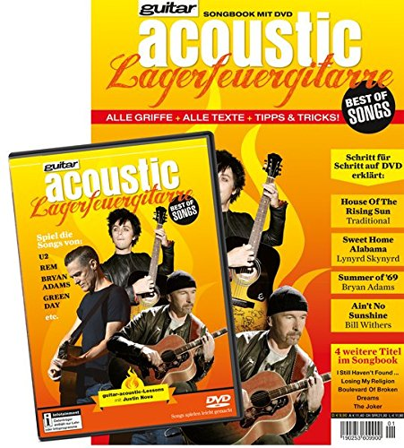 guitar acoustic Lagerfeuergitarre Best of Songs: Songbook mit DVD