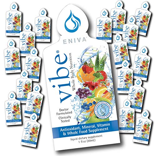 Liquid Vitamins and Minerals | Dr. Formulated for Maximum Absorption | Eniva Vibe (1 Box of 20 on-The-go Packets)