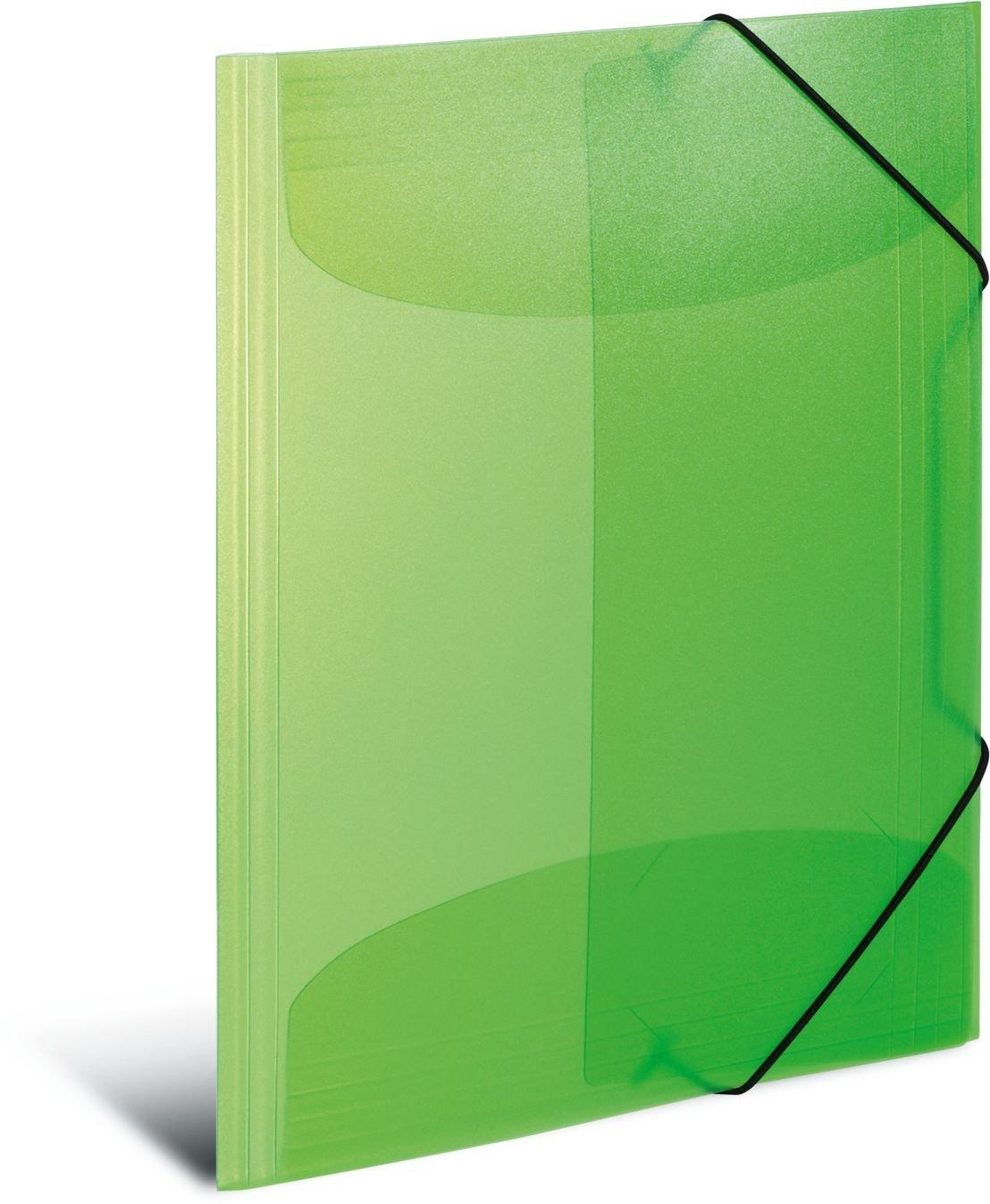 plastica HERMA 19500/ 1/pezzi trasparente DIN A3 Rot /Cartellina con con elastici di gomma