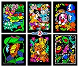 Stuff2Color Puppies, Pond, Kittens, Butterfly, Tiger, Insect - 6 Fuzzy Velvet Coloring Posters