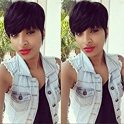 ATOZWIG Short Human Hair Wigs For Black Women African American Wig Capable Glueless None Lace Human Hair Wigs