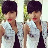 ATOZWIG Short Human Hair Wigs For Black Women African American Wig Capable Glueless