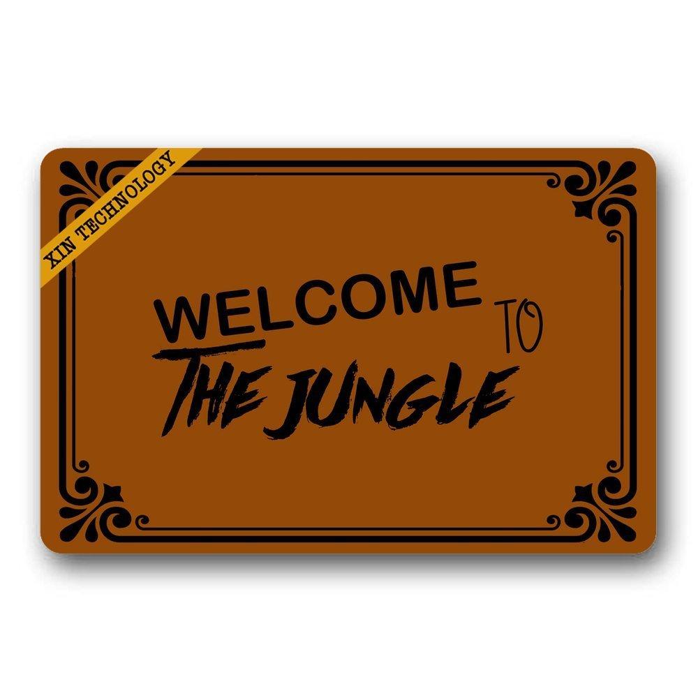 Doormat shirt Zerbini Welcome to The Jungle Gomma Antiscivolo zerbino d Ingresso Tappeto Tappetino Durable Home Indoor tappeti 59,9/x 39,9/cm