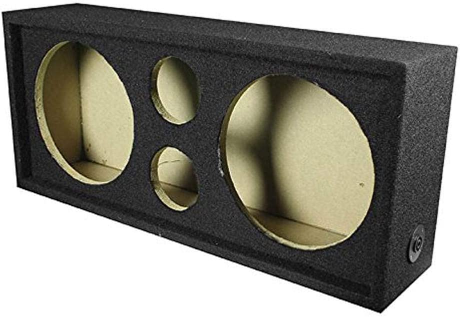 Q Power Car Audio Subwoofer Enclosure Box Chuchero For 10 Mids and 3 Tweeters