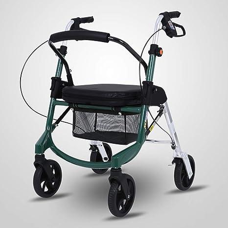 GTT Carrito de Compras de aleación de Aluminio polea Ajustable en Altura con Asiento para Personas