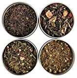Heavenly Tea Leaves Tea Sampler Gift Set, 4 Bestselling Cans (Tea Sampler Gift Set (Allergen-Free))