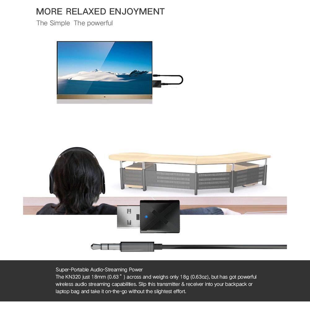 Receptor Transmisor Bluetooth Receptor Transmisor Bluetooth 2 En 1 Adaptador De Audio Inal/ámbrico 5.0 Reproductor De M/úsica MP3 De Manos Libres Montado En El Transmisor-receptor De Audio Bluetooth
