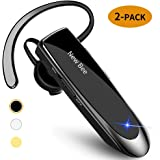 [2 Pack] Bluetooth Earpiece Wireless Handsfree Headset New Bee V5.0 24 Hrs Driving Headset 60 Days Standby Time with…