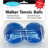 Top Glides Precut Walker Tennis Ball Glides (Dark Blue)