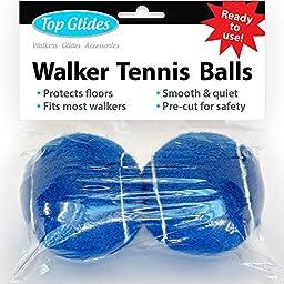 Top Glides Precut Walker Tennis Ball Glides - Dark Blue - 1 Pair