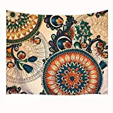 """Goodbath Large Hippie Tapestry, Mandala Bohemian Tapestries for Room Dorm Wall Decor, Psychedelic Tapestry Wall Hanging,80"""" x 60"""", Colorful"""