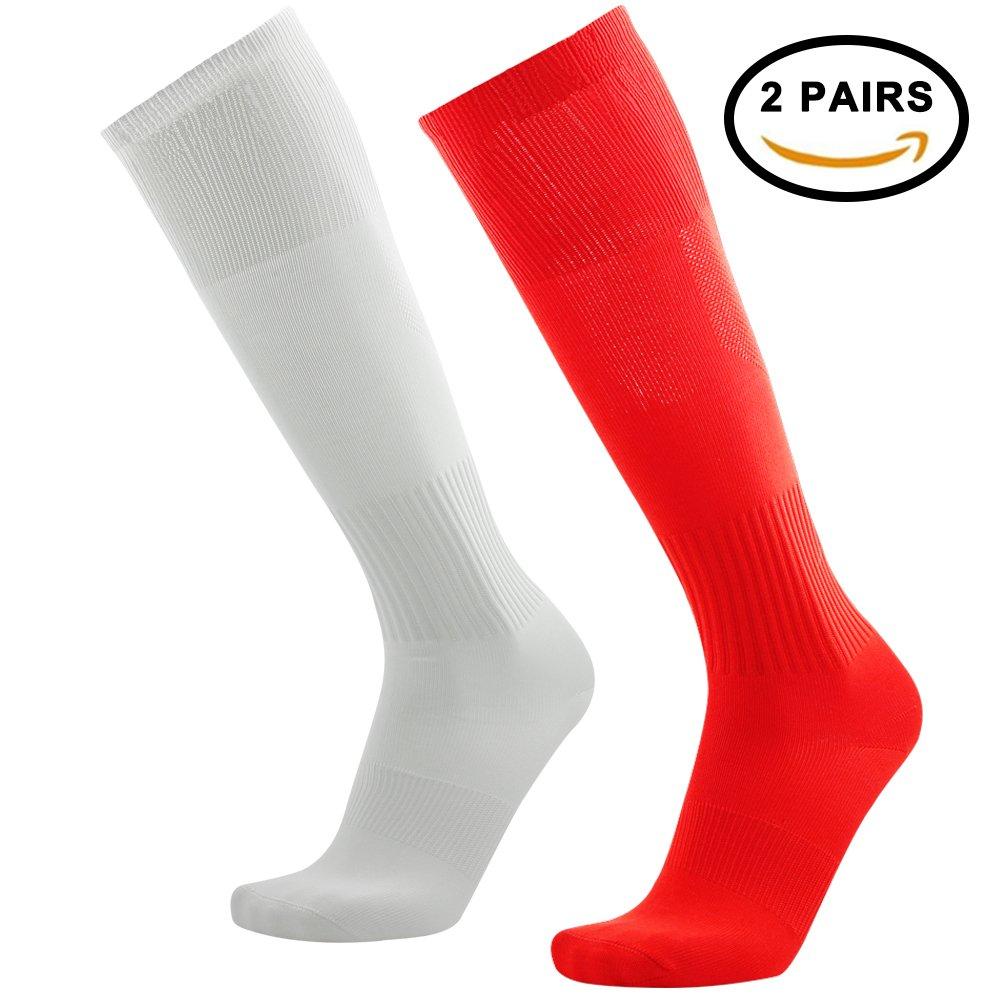 Tattooサッカーソックス、3streetユニセックスニーハイプリントチューブソックス2 / 6ペア B0743BGNN1 03#2 Pairs White Red-Unisex 03#2 Pairs White Red-Unisex