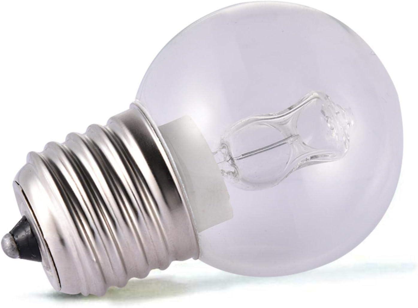 keleiesXD Bombilla para Horno de electrodomésticos Bombilla de Vidrio Transparente para Horno Bombillas incandescentes Resistentes a Altas temperaturas de 500 Grados 2650k Blanco Suave Advantage