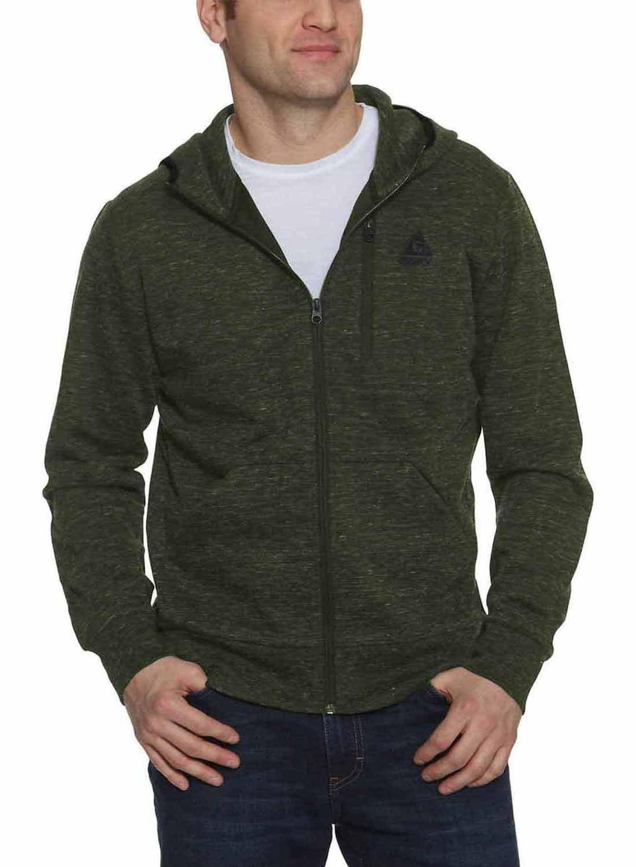 Gerry Men's Full Zip Hoody Jacket (Green Mix, Medium)