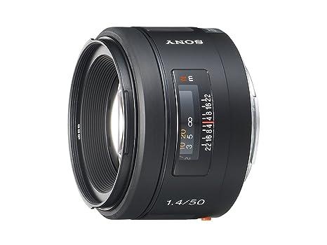 Sony 50mm f/1.4 Lens for Sony Alpha Digital SLR Camera (Black) at amazon