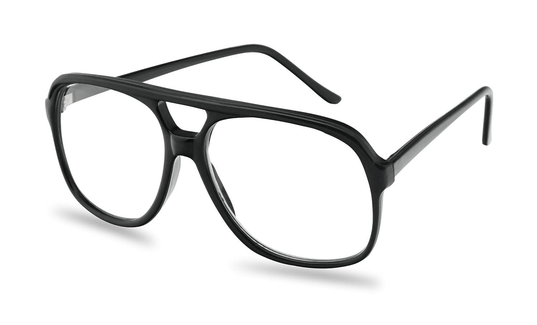 ca5e850290a Amazon.com  SunglassUP - XL Oversized Horn Frame Optical Rx +1.00 thru +3.50  Reading Glasses (Black (58mm)
