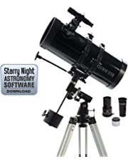 Celestron - PowerSeeker 127EQ Telescope - Manual German Equatorial Mount - Telescopes for Adults - Compact and Portable - BONUS Astronomy Software Package – 127mm Aperture
