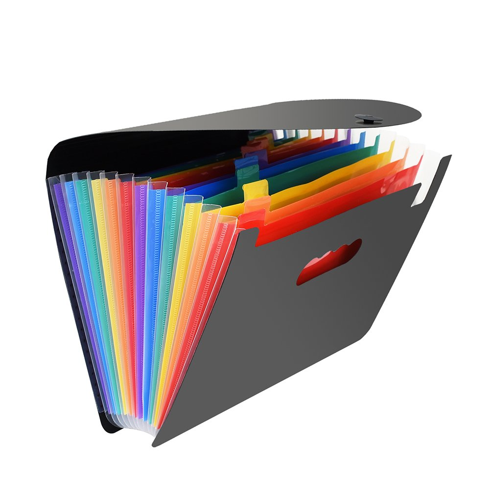 Accordion File Organizer, Adevena Portable