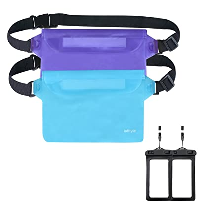 a5fcd636c61 Waterproof Pouches -3 Zipper Design Adjustable Long Waist Strap Waterproof  Bag For Beach Swimming Boating