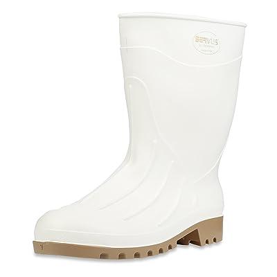 "Servus 12"" PVC Polyblend Soft Toe Shrimp Boots, White (74928): Home Improvement"