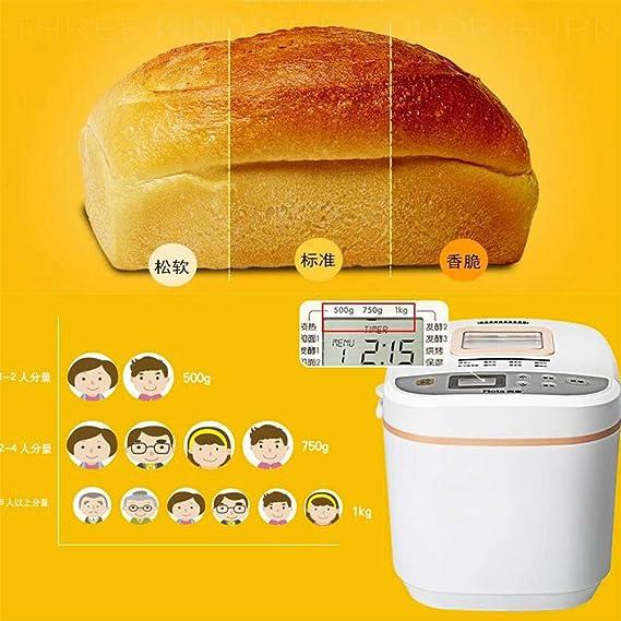 LJ-MBJ Maquina para Hacer Pan, Casa Automático Maquina de Pan Al Vapor Pan, Multifunción Máquina para Hornear Pan, Inteligente Yogur Máquina de la Torta ...