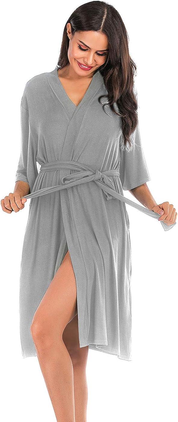 Spa Baignade ABirdon Femmes Peignoirs Kimono Coton Peignoir de Bain pour Femme V/êtements De Nuit