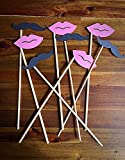Photo booth props-mustache and lips party-Photography props