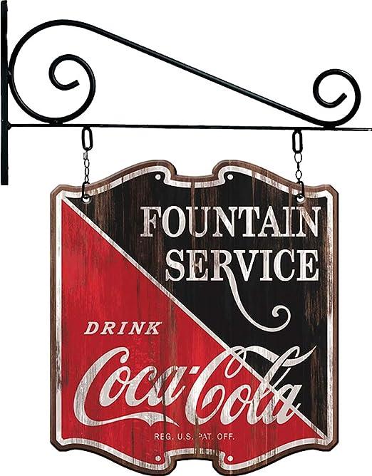 SOTT Coca-Cola Reproducción Vintage Publicidad Cartel Doble ...