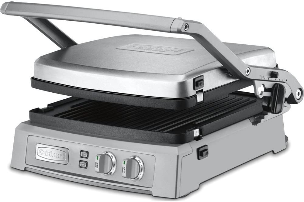Cuisinart Griddler Deluxe Brushed Stainless GR-150 with 1 Year Extended Warranty