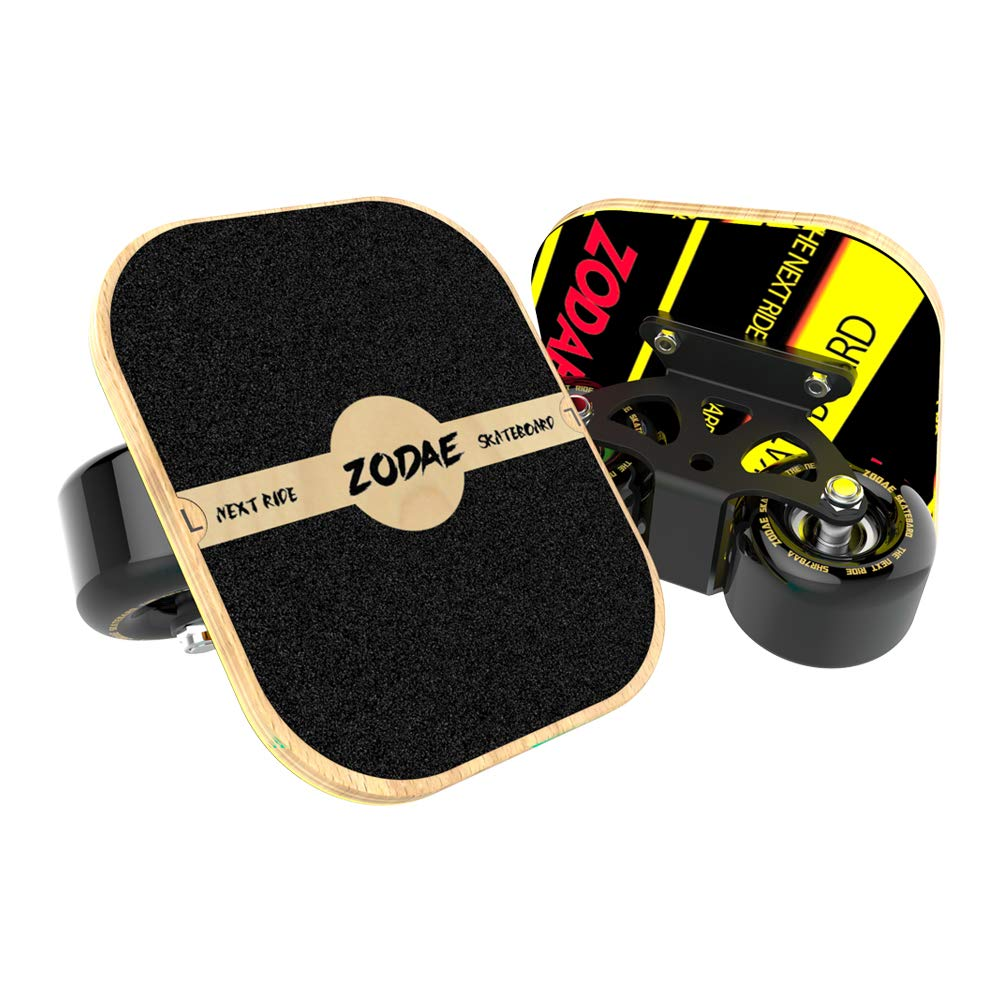AsFrost Portable Roller Road Drift Skates Plate with Cool Maple Deck Anti-Slip Board Split Skateboard with PU Wheels High-end Bearings (Solid Wheel)