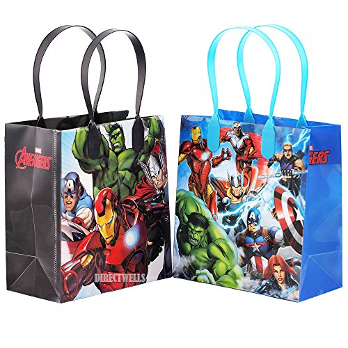 Avengers Characters 12 Premium Quality Party Favor Reusable Goodie Small Gift Bags (Avengers Party Favours)