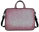 17.3-Inch Laptop Shoulder Carrying Bag Case Sleeve For 17' 17.3 inch HP DELL (Pink)