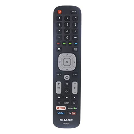 Factory Original Sharp EN2A27S LED HD TV Remote Control with Netflix,  Amazon, Vudu and Youtube Buttons