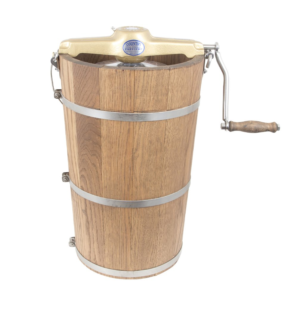 8 qt Country Ice Cream Maker - Classic Wooden Tub - Hand Crank
