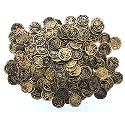 Fun Express Pirate Party Favor Gold Play Coins 144pieces: Toys & Games
