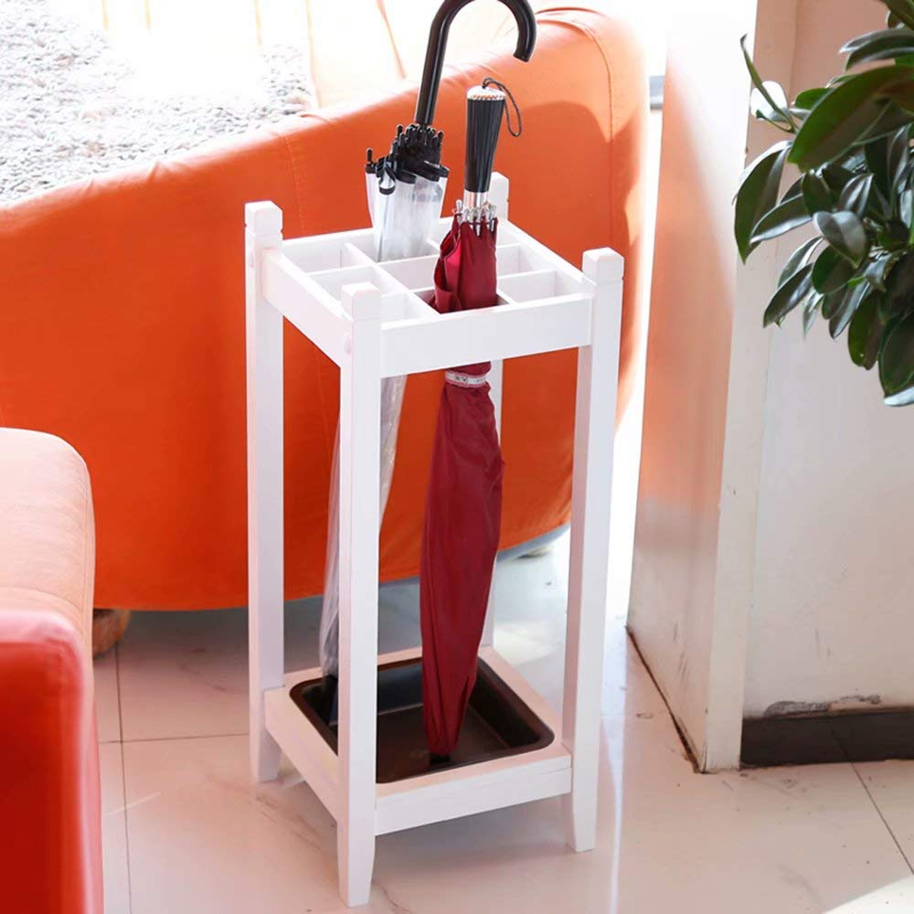 White Umbrella Stand Hotel Lobby Floor Storage Rack Consumer and Commercial Placement Rack