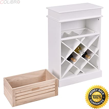 white wine rack cabinet. COLIBROX--12 Bottles Wine Rack Cabinet Storage Display Shelves Wood Kitchen Decor White. White S