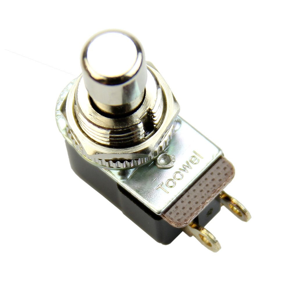 Mingo Store SPST Momentary Soft Touch Push Button Stomp Foot Pedal Electric Guitar Switch
