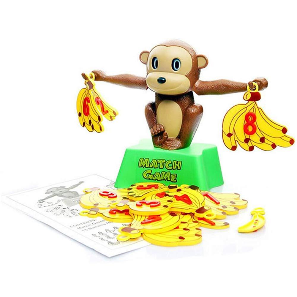 ZMH Monkey Match Math Balance Balancing Scale Match Number Juego De Equilibrio Juego De Mesa Juego De Juguete Educativo para Que El Niño Aprenda Sumar Y Restar [Clase de eficiencia energética A]