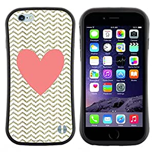 "Hypernova Slim Fit Dual Barniz Protector Caso Case Funda Para Apple (4.7 inches!!!) iPhone 6 / 6S (4.7 INCH) [Corazón de oro rosa con clase Chique""]"