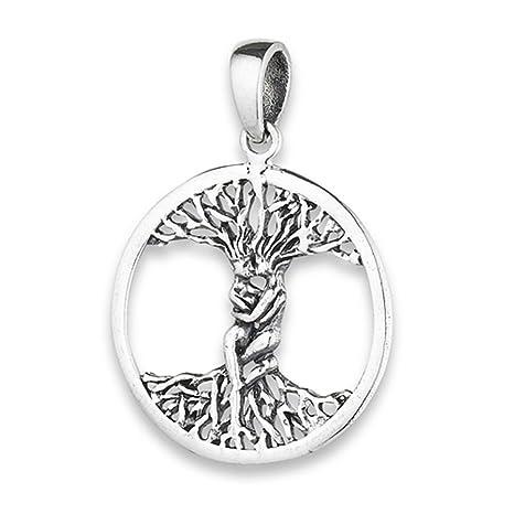 Colgante de árbol de la vida para parejas de plata de ley ...