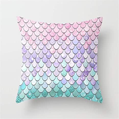 Amazon.com: Huisfa Mermaid Pastel Pink Purple Aqua Teal ...
