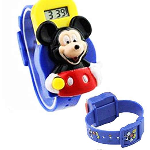 Mickey Mouse 3d azul Jelly Band Digital reloj para niños: Amazon.es: Relojes