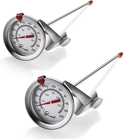 Portable High Fried Probe Thermometer Clamp Stainless Steel Kitchen Cooking Tool