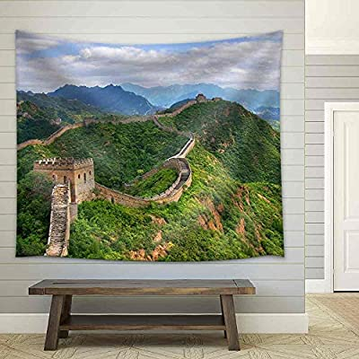 Beijing Great Wall of China - Fabric Wall Tapestry Home Decor - 51x60 inches