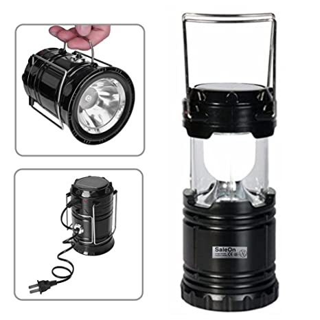 SaleOn Lantern LED Solar Emergency Light Bulb With Mobile Charging Facility-024 (Black)