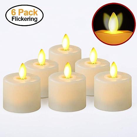 LED Pillar Candles Flameless Flickering Light Candle Wedding Xmas Battery Lamp